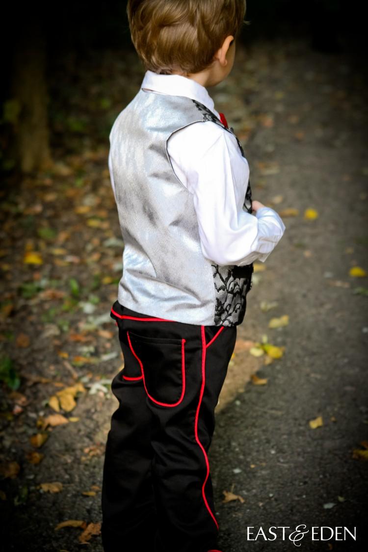 School Boy Vest Vampire Costume 07